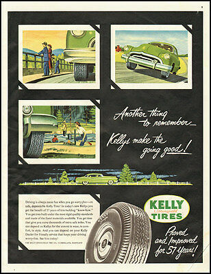 1951 vintage ad for Kelly Auto Tires  -071612