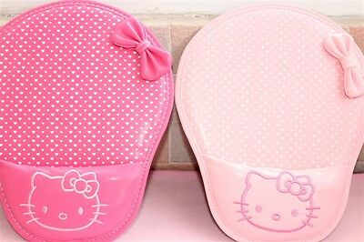 1pcs Cute Hello Kitty Love Flower Bow soft PU Mouse Pad Mat with wrist PINK/ROSE
