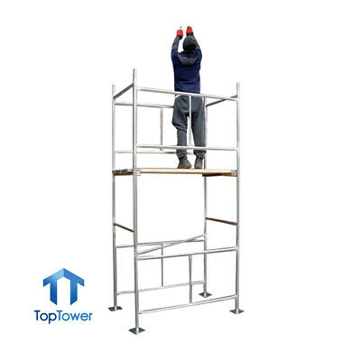 "DIY Scaffold Towers Boards Option 3.8m (4' x 2'6"" x 12'6"" WH) Galvanised Steel"