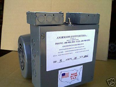 NEW ! Bridgeport  3HP Rotary 3 Phase Anderson Converter