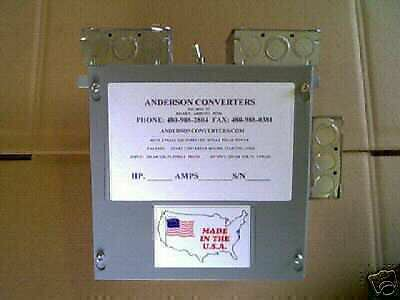 NEW!! 10 Hp Rotary 3 Phase Anderson Converter Panel  HD