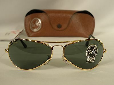 B L Ray Ban Sunglasses  new vintage b l ray ban 1940 s retro rectangle gold w1756 aviator