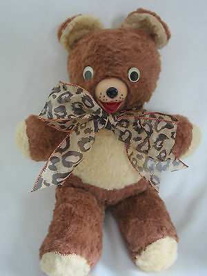 Rescued 1950s  Vintage Teddy Bear Rubber Nose 18 inch Brown   FREE SHIPPING