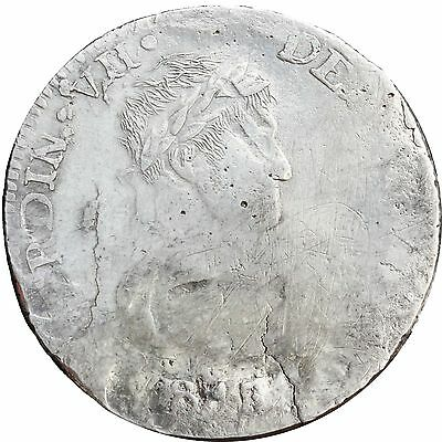 Mexico 8 Reales D 1818 C.G. Durango, Ferdinand VII. War of Independence. Scarce.