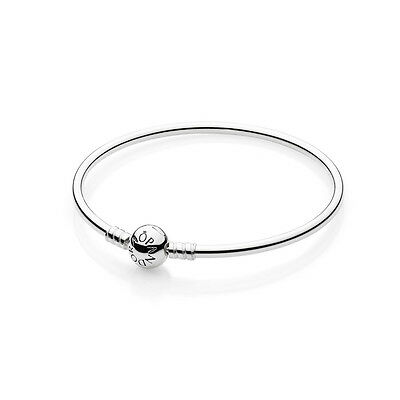 New Authentic Pandora Bangle Bracelet 590713-19 Sterling Silver 7.5 Inches