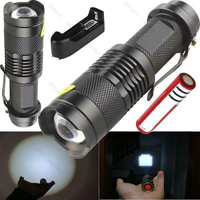 ZOOMABLE 2000 LM #G UltraFire CREE XM-L T6 LED Flashlight+18650 Battery+ Charger