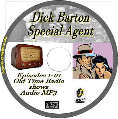 Dick Barton Special Agent 10 OTR Old Time Radio Episodes Audio MP3 on CD