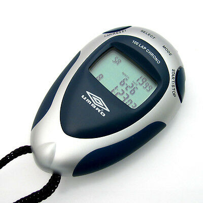 Umbro Professional Stopwatch Silver & Navy Blue Unisex with 38 Inch Cord U124