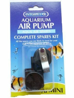 Interpet Aquarium Aqua Air Pump AP Mini 1 2 3 4 Spares Maintenance Kit Diaphragm