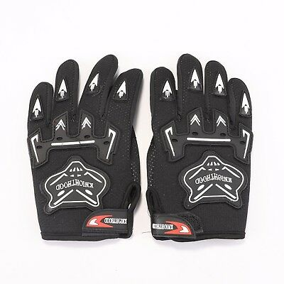 BLACK Kids Children Motorcycle Gloves Motorbike Gear Motorcross S-M-L Size