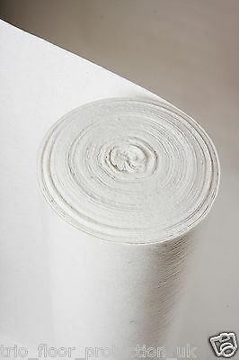 Temporary Hard Floor Protection Roll - Standard White & Grey Budget Fleece optns