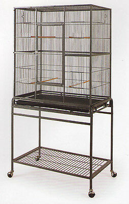 New Bird Parrot Cage Cockatiel Conure Large Wrought Iron Flight cage BLK/WTY-194