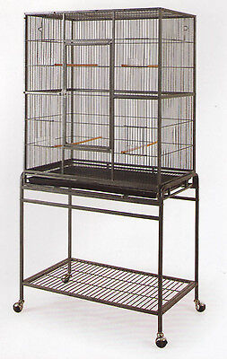 New Bird Parrot Cage Cockatiel Conure Large Wrought Iron Flight cage BLK/WTY-207