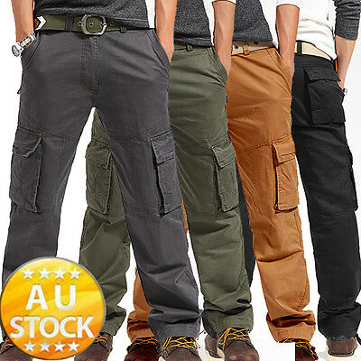 New Mens Cargo Pants Casual Pants Leisure Trousers Combat Trousers