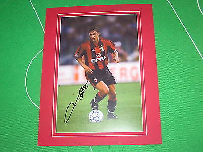 AC Milan Ledgend Paolo Maldini Signed & Mounted Action Photograph