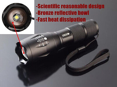2000Lumens CREE XM-L T6   LED Flashlight light Torch zoomable !~#