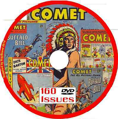 Comet Comics on DVD 160 issues includes viewing software for PC .cbr format