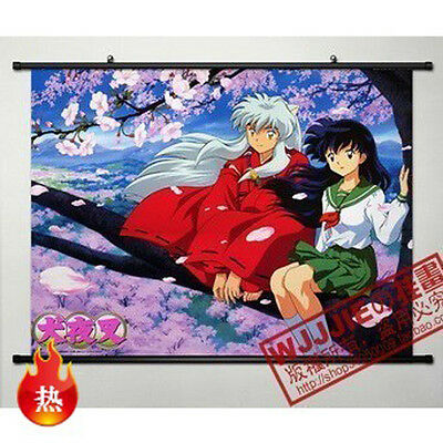 Anime InuYasha Home Decor Poster Wall Scroll 80*60CM QY016