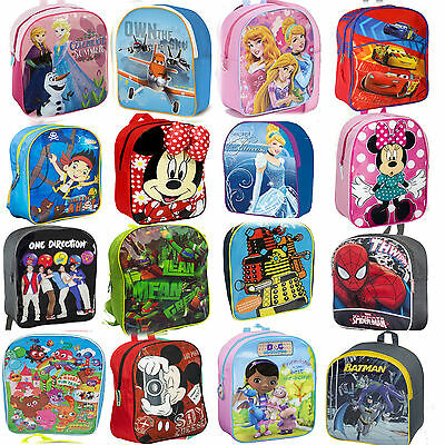 Kids Boys Girls Disney Backpack School Bag Rucksack Childrens Lunch Bag