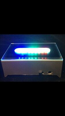 Long Multi Color Rectangle Crystal Display 4 LED Light Base