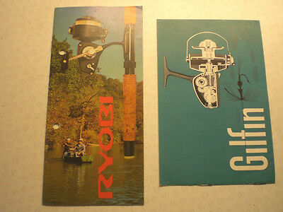 Ryobi And Gilfin Fishing Reel Advertising Catalogues/booklets