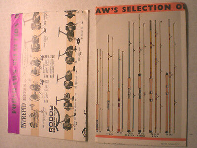 Forshaw's Of Liverpool Rod And Reel Advertising Catalogue/display Posters 1971