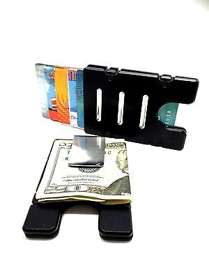 BilletVault Wallet Alum.RFID protected black anodized,Dont Tread On My Gun Right