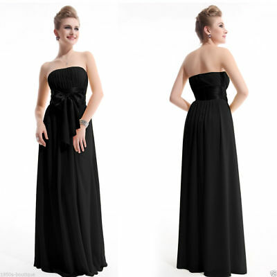 long evening dress chiffon bridesmaid formal prom party maxi gown lace ball wome