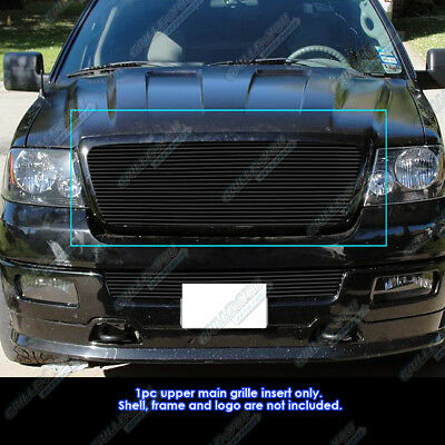 Fits 2004-2008 Ford F150 All Model Black Billet Grille Insert 2005 2006 2007