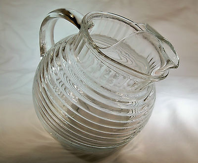 Hocking Glass Co. Manhattan Crystal 24-Ounce Tilted Juice Pitcher!