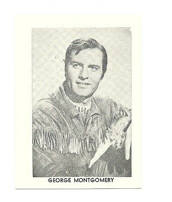 """2.5""""X3.5""""  B/W publicity photo from 40's-50's VG Condition George Montgomery"""