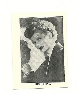 """2.5""""X3.5""""  B/W publicity photo from 40's-50's VG Condition Lucille Ball"""