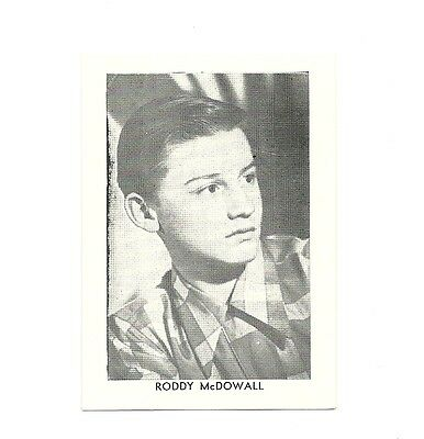 """2.5""""X3.5""""  B/W publicity photo from 40's-50's VG Condition Roddy McDowall"""