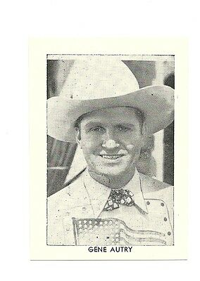 """2.5""""X3.5""""  B/W publicity photo from 40's-50's VG Condition Gene Autry"""