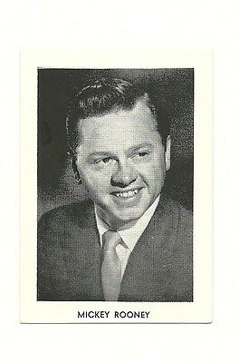"""2.5""""X3.5""""  B/W publicity photo from 40's-50's VG Condition Mickey Rooney"""
