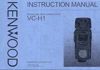 NEW Kenwood VC-H1 Instruction Operating Manual Book in English