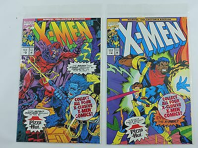 Lot of 2 X-MEN Pizza Hut comic books Issues # 3 & 4 Marvel 1993 Collector's Ed