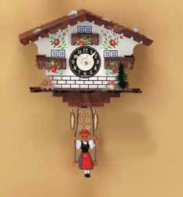 PPT-111-0014 Swinging Girl Doll Quartz Movement Wooden White House German Clock