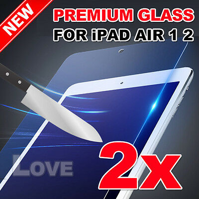 2X New Tempered Glass Film Guard for iPad Air 1 2 Screen Protector