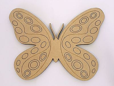 One Wood Wooden Butterfly Shape MDF 10cm High Kids Craft DIY Paint Mobile Model