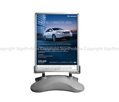 A0 Waterbase Pavement Poster Sign A-Board- Snap Frame Shop Display Stand