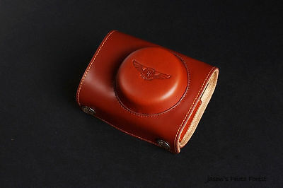 Real Leather Full Camera Case Bag Cover for SONY RX100 V II III IV M2 M3 M4 M5