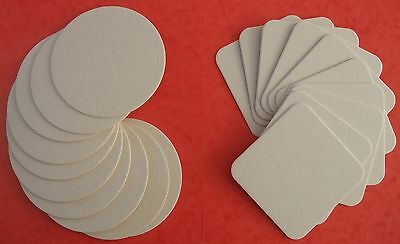 20 Blank Coasters for Art and Craft -Round and Square (PLEASE READ DESCRIPTION)