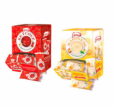 KETCHUP + MAIONESE GAIA IN BUSTINA GR. 12 MONODOSE Kit 2 Box -Totale 204 Bustine