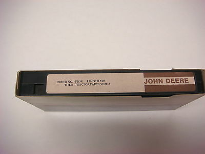 John Deere Training/Promotional VHS Tape Tractor Parts Video