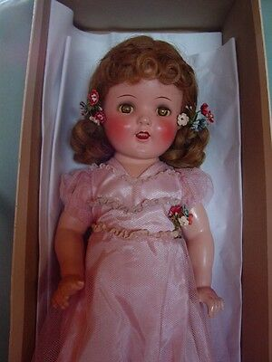 IDEAL USED VINTAGE COMPOSITION MIB CINDERELLA SHIRLEY TEMPLE DOLL, 19.5 INCHES