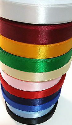 20 yards, 13mm Satin Ribbon roll School Invitation Gift wrap Decor Christmas bow