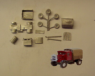 P&D Marsh N Gauge n Scale G38 Scammell Rigid 4 lorry + cover kit requires painti