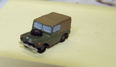 P&D Marsh N Gauge n Scale X36 Landrover Series I car (intro 1948) PAINTED