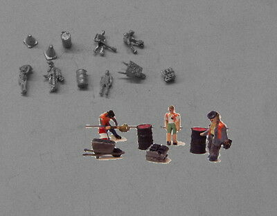 P&D Marsh N gauge n Scale B200 Track gang and clutter castings require painting